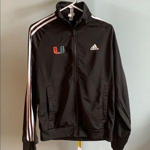 Miami Hurricanes Adidas zip up size small